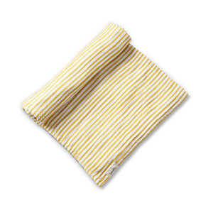 Organic Striped Swaddle - marigold