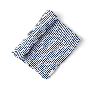 Organic Striped Swaddle - ink