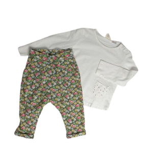 Cute floral outfit for baby girl 6-9M (Pre-loved)
