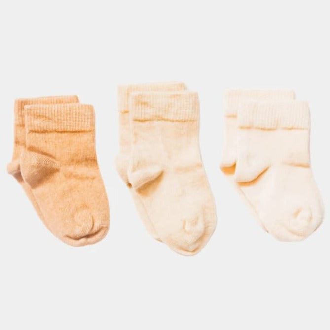 Organic Cotton Socks (3 Pairs) - Pure