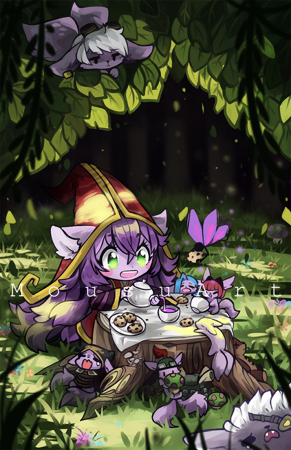 Print 11x17 - LoL LuLu Tea-party