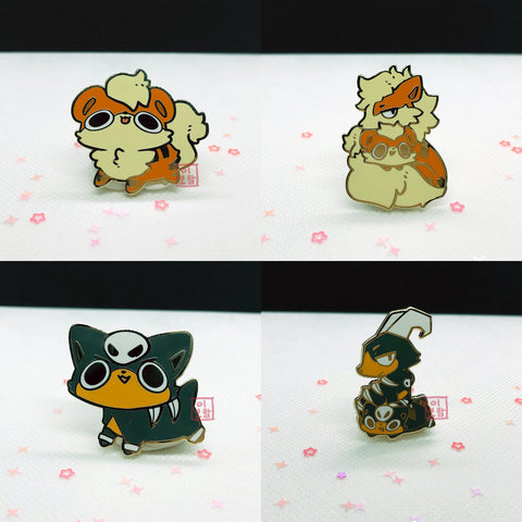 Enamel Pins - Dog Poketo (Flawed Only)