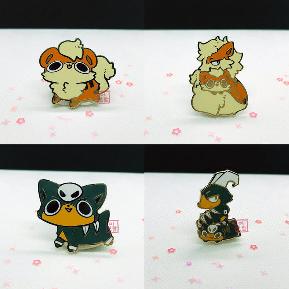 Enamel Pins - Dog Pokemon