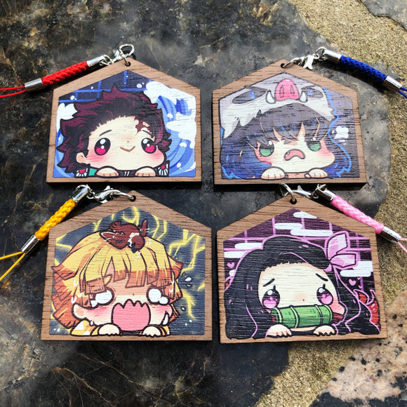 Wooden Charms - Demon Slayer Kimetsu no Yaiba