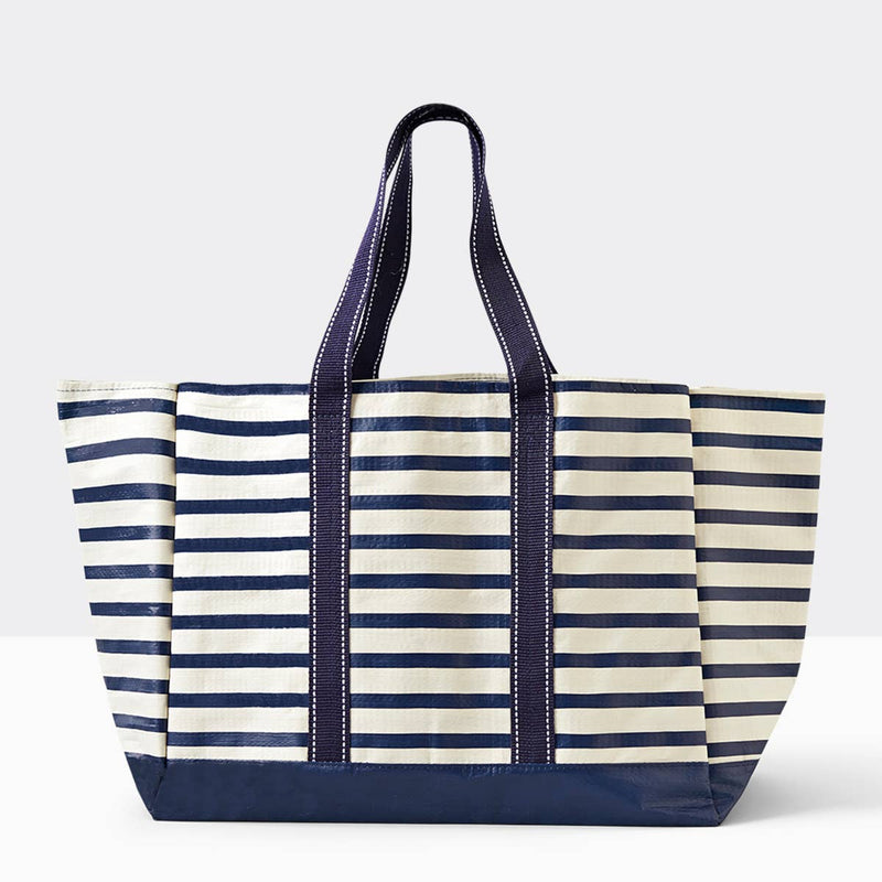 Carryall Tote, Navy Stripe