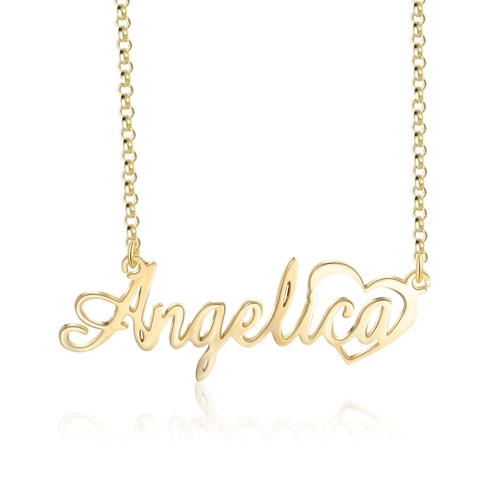 Sterling Silver Personalized Custom Name Necklace for Women