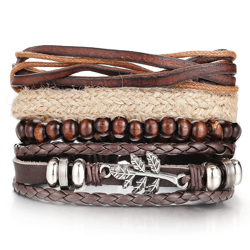 Vintage Multilayer Leather Bracelet For Men And Women - Pizarkle