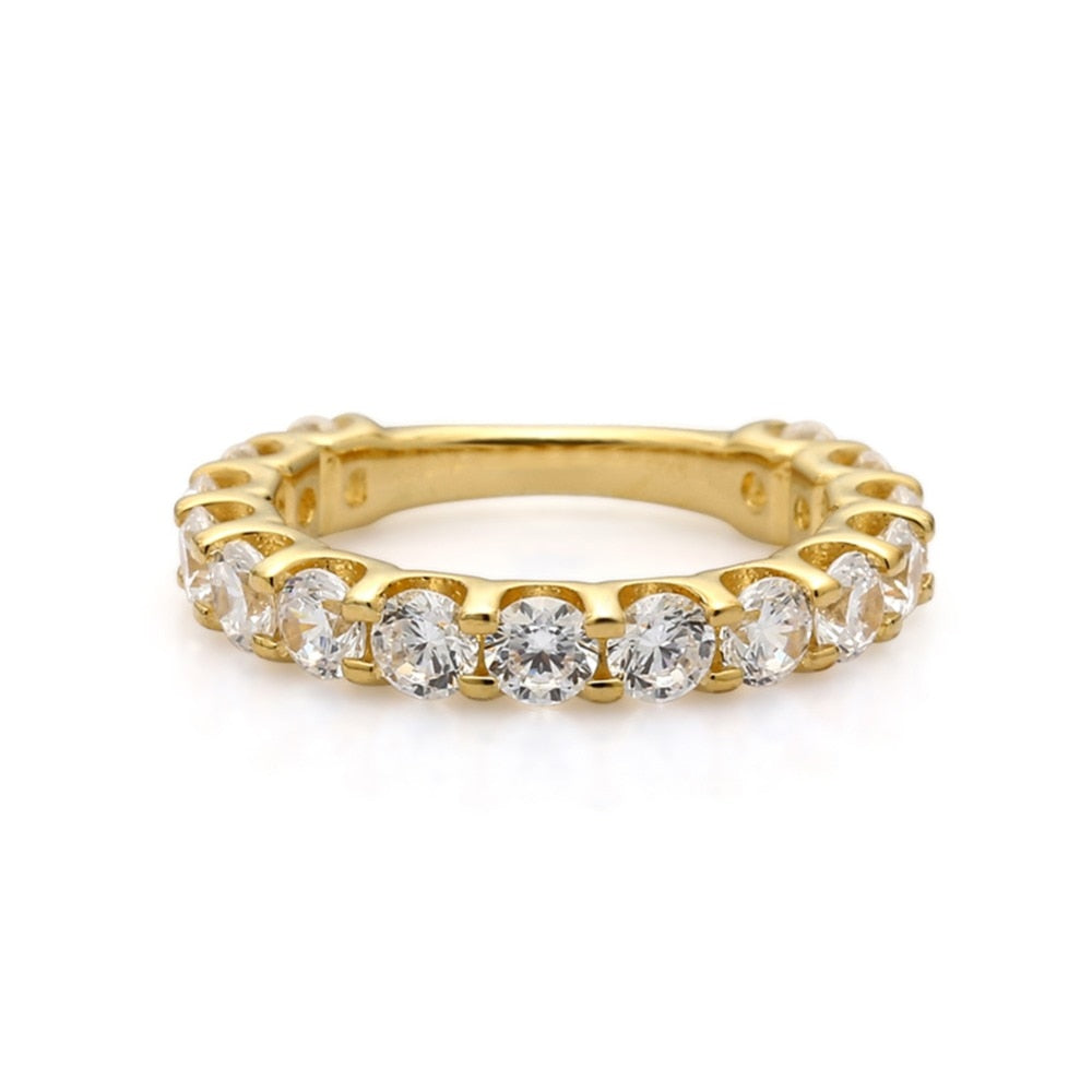 Sterling Silver Gold Plated Ring For Women