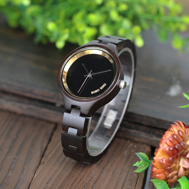 Ebony/Maple Wooden Watch