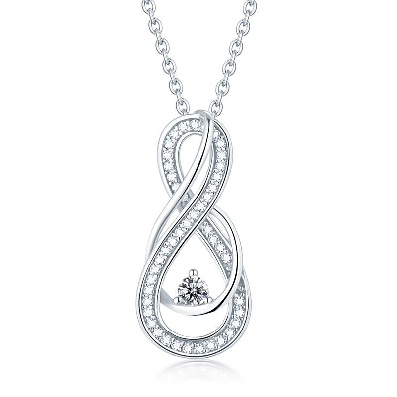 Sterling Silver Infinity Pendant Necklace for Women