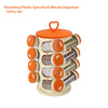 166 Revolving Plastic Spice Rack Set (16pc)