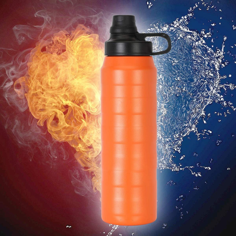 327_Water Bottle Thermo Steel 900ml, Thermos Flask Water Bottle for Cold Water