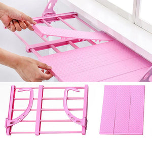 705 Multi-function Hanging Window Sill Drying Rack Easy Folding Drying Rack Balcony Retractable Drying Shoe Rack