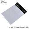 932 Tamper Proof Courier Bags(6.5X08 PLAIN 180 POD M5 AMAZON) - 100 pcs