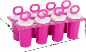 757_Plastic Ice Tray Candy Maker Kulfi Maker Popsicle Mould Set