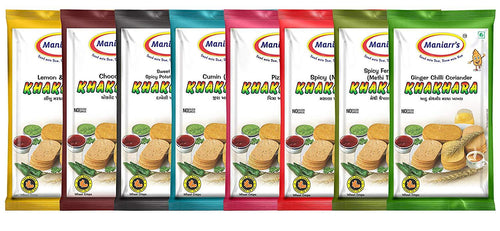 Maniarr's Khakhra mix flavour healthy snacks (8 Packs, 8 Flavors, 360 gm), (Healthy Snacks)