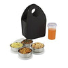 128 Steel Lunch Box Set (4 pcs, Black)