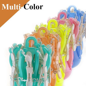 336_Small Octopus Folding Hanging Dryer Round Folding with 16 Pegs  (Multicolor)