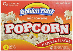 Pop Corn Natural Flavor Golden Fluff Kosher 350g