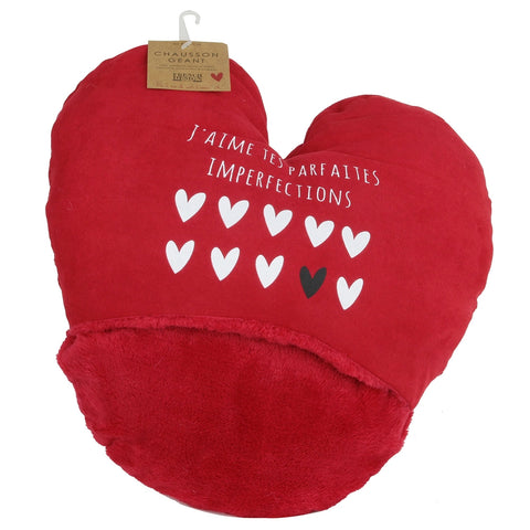 Chausson Coeur Double Rouge