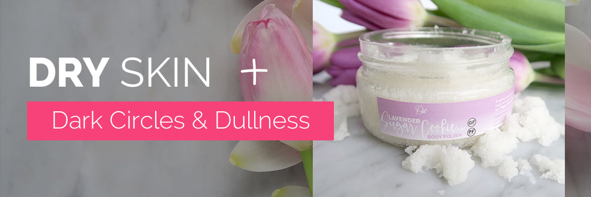 Dry Skin + Dark Circles & Dullness = Root Lavender Sugar Cookie Body Polish