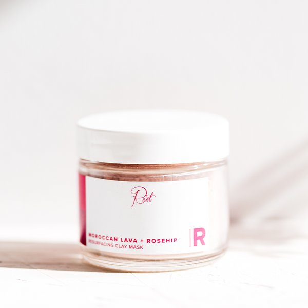 Moroccan Lava + Rosehip Resurfacing Clay Mask