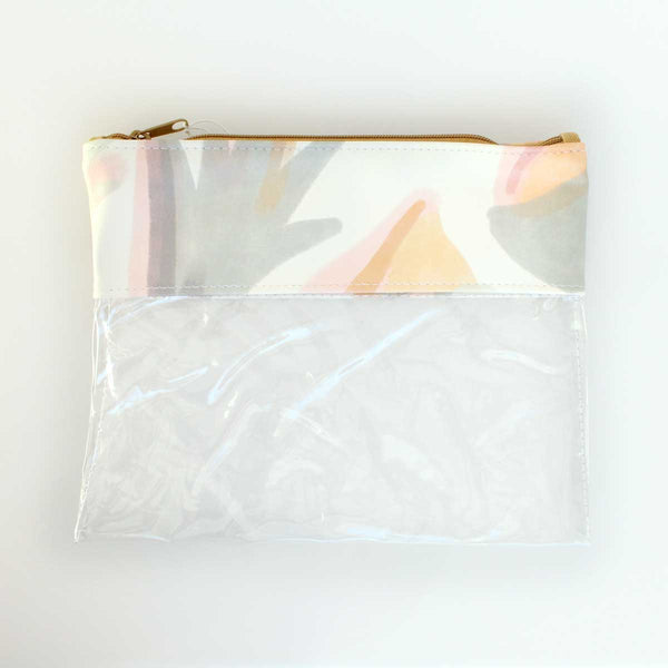 Sweet Vibes Vegan Leather Clear Makeup Pouch