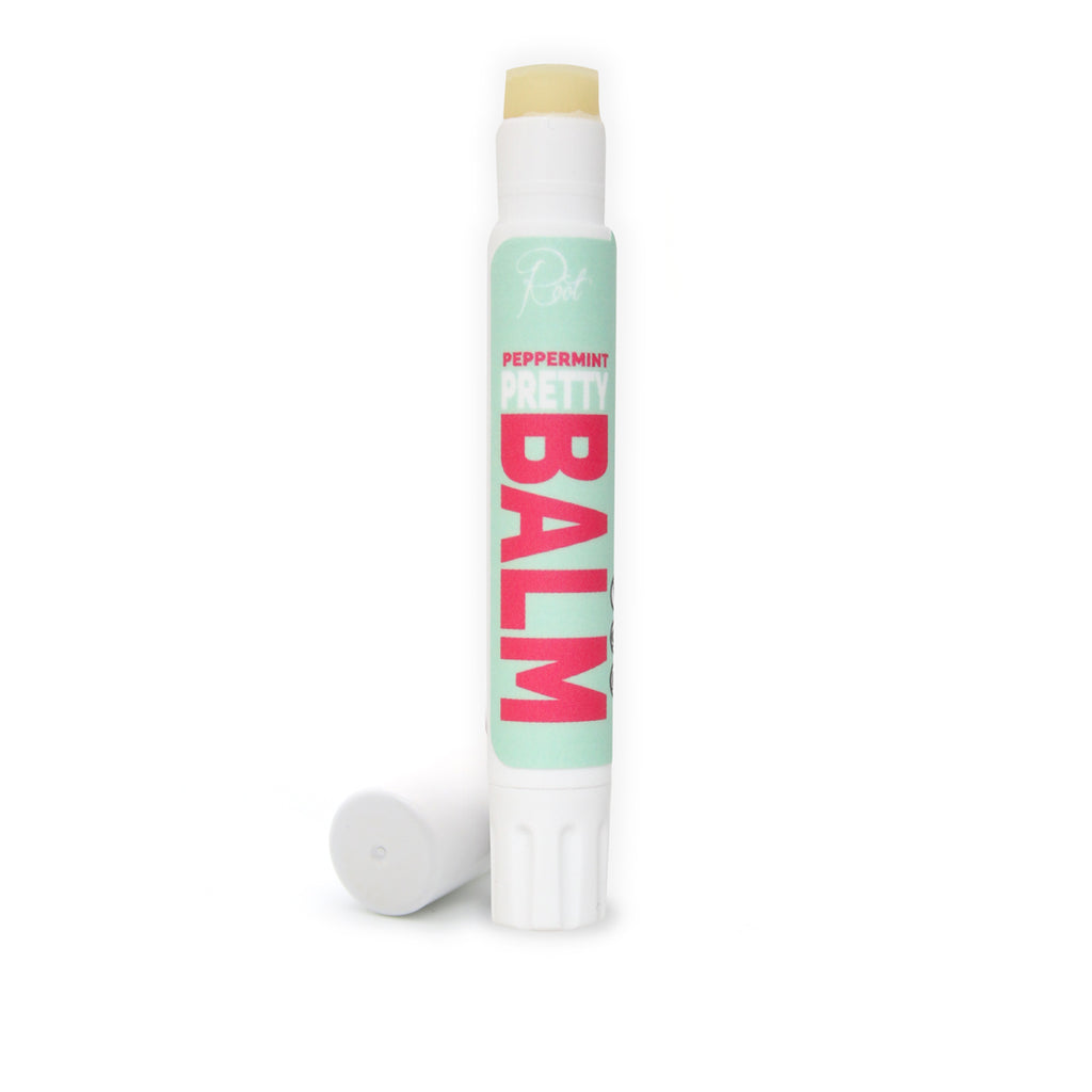 Clear Peppermint Pretty Balm • 100% Natural • Vegan • Moisturizing Lip Balm