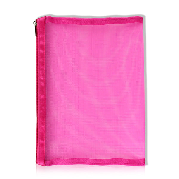 Large Pink Mesh Makeup Bag