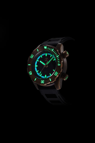 Abyss 2 3000m Bronze : Green Dial