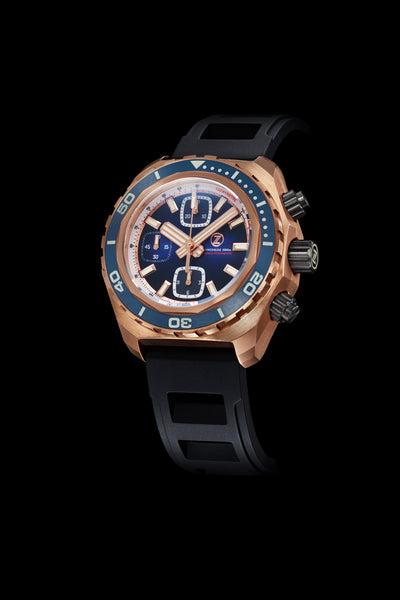 Hammerhead Chrono 1000m Diver Bronze Midnight Blue