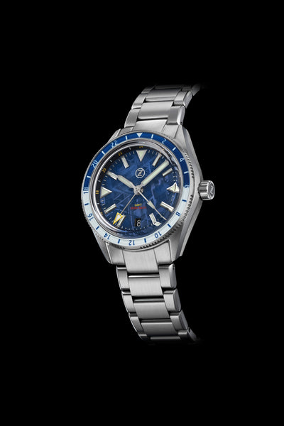Horizons V2 GMT 200m SS Blue Meteorite Launch Special