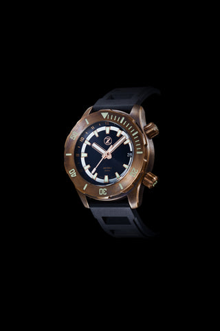 Abyss 2 3000m Bronze : Black Dial