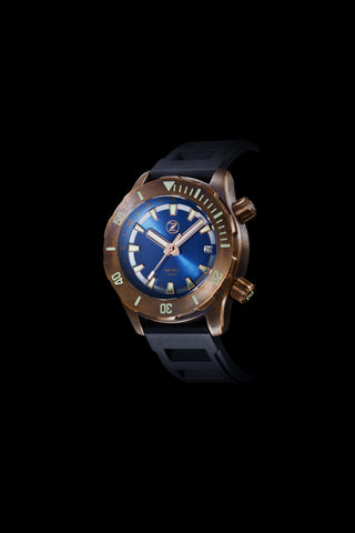 Abyss 2 3000m Bronze : Blue Dial