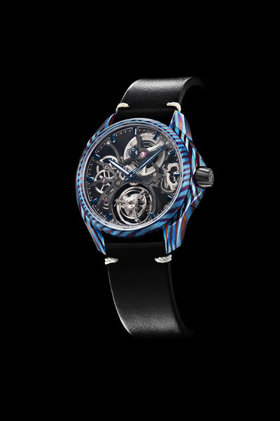 Mirage Tourbillon - Titanium Damascus (Blue)