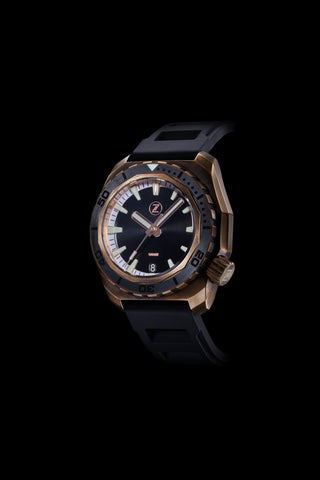 Hammerhead 1000m Diver Black with Stealth Ceramic Bezel