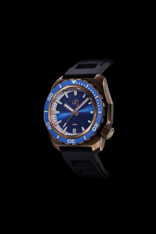 Hammerhead 1000m Diver Blue with Blue Ceramic Bezel