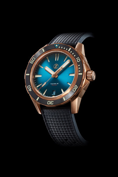 Swordfish 40mm Bronze Teal