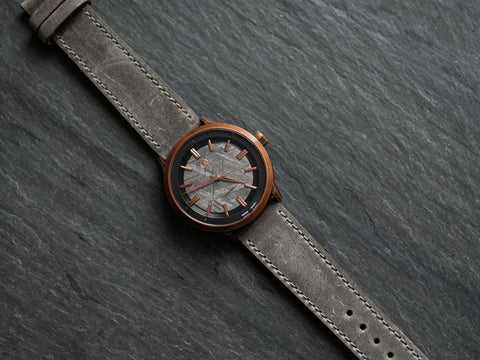 Vintage Grey Leather Strap 20mm