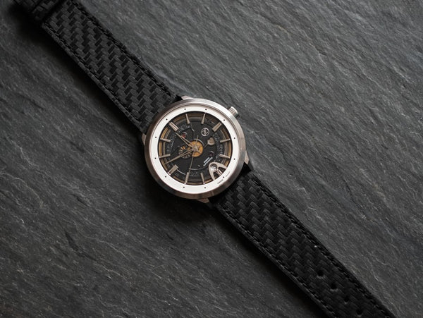 Carbon Fiber Textured Leather Strap 20mm