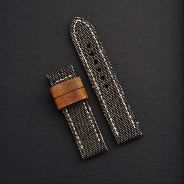 22mm Vintage Canvas/Leather Strap