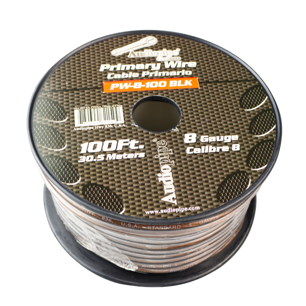 CABLE PODER NEGRO 100FT #8