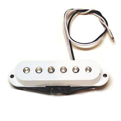 Genuine Fender Squier 99 Stratocater Single Coil Bridge Pickup White
