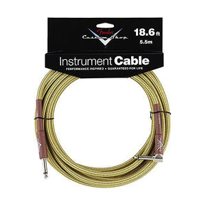 "Fender Custom Shop Performance Series Cable Right Angle 1/4"" in Tweed 18.6 FT - Ant Hill Music"