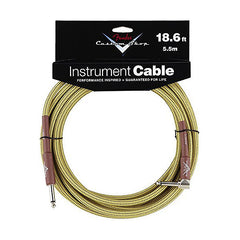 "Fender Custom Shop Performance Series Cable Right Angle 1/4"" in Tweed 18.6 FT"