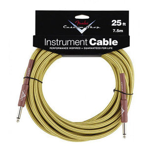 "Fender Custom Shop Performance Series Cable Straight 1/4"" in Tweed 25 FT - Ant Hill Music"