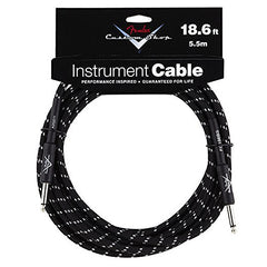 "Fender Custom Shop Performance Series Cable Straight 1/4"" in Black Tweed 18.6 FT"