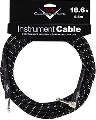 "Fender Custom Shop Performance Series Cable Right Angle 1/4"" Black Tweed 18.6 FT"