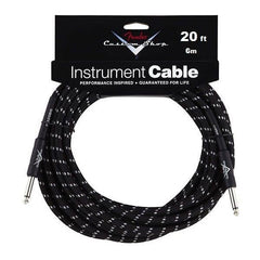 "Fender Custom Shop Performance Series Cable Straight 1/4"" in Black Tweed 20FT"