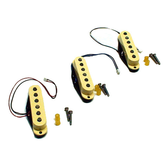 Genuine Fender American Select Solderless Stratocaster Pickup Set  Aged white - Ant Hill Music